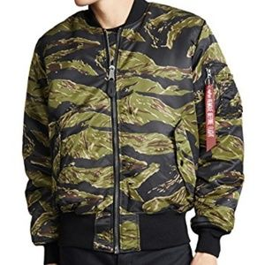 Camo Flight Bomber Jacket